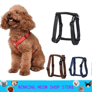 Nylon Pet Dog Harness No Pull Adjustable Leash Vest Classic Running Strap Belt For Small And Medium Dog Feflective Stripe Teddy