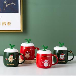 400ml Weihnachten Keramik Tassen Kaffee Cartoon Milk Cup Santa Claus Urlaub Dekorative Liebhaber Kaffeetasse Geschenk