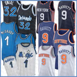 Penny Hill Shaquille Hardaway O'Neal Mens RJ Ewing 9 Barrett NEUYorkKnicks Orlando.Magic Basketball Jersey Beige