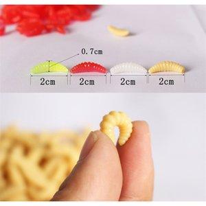 프로모션 웜 새우 물고기 물고기 미끼 20pcs 2cm 0.3g Maggot Grub 소프트 낚시 미끼 후크 냄새 웜 e2 sqcwpu buy_home