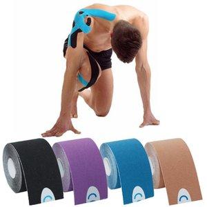Cinta de Kinesiology 2.5 / 5cm 5m Recuperación de Atlética Cinta elástica Kneepad Relieve Rodilleras Soporte para gimnasio Fitness Vendaje