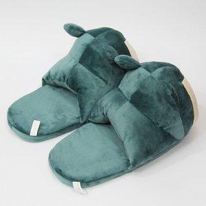 Winter Men Women Snorlax Slippers Gengar Eevee Umbreon Psyduck Indoor Floor Cosplay Toys Shoes Warm Home House Slides 201203
