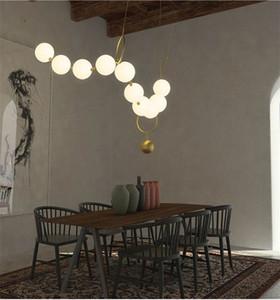 Postmodern Loft Cam Top Sarkıt Yaratıcı Kolye Tasarım Restoran Salonu LED Işıklar Decro Süspansiyon Işık Armatürleri