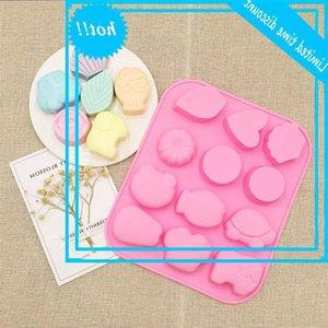 12 company reptile tortoise ice lattice chocolate handmade soap grinder silicone cake mold