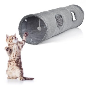 Straight Shape Pet Cat Tunnel 2 Holes Funny Kitten Animals Play Tunnel Tube Training Toy For Dog Cat Ferrets Pet Toy