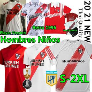 2020 2021 Placas de río Jerseys de fútbol Versión del jugador Álvarezpratto Fernández Retro 1996 Camisetas Hombres Kits Niños Uniformes de fútbol Pantalones