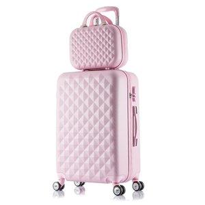 Dames Case Set Maquillage Sac à main Chariot De Voyage Password de voyage Suitcase Bagages
