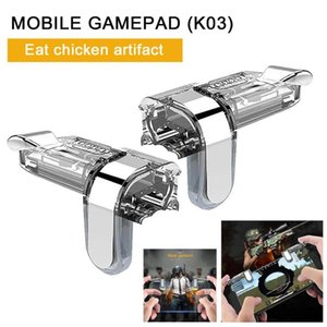 2pcs PUBG Mobile Phone Gaming Grip Trigger Game Holder Fire Button Game Controller Gamepad Joystick for PUBG Gaming Accessories