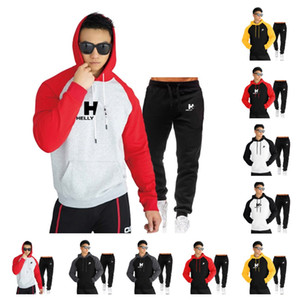 Teenager Sport Suit HH Hoodies Pants Designers Outfits Men Casual Fashion Hooded Sweatershirt Sweatpants Two Pieces Sets Tracksuits E112302