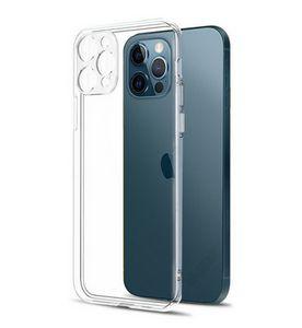 Защита объектива камеры Прозрачный чехол для телефона для iPhone 12 Pro Max Silicone Soft Cover для iPhone 12 мини-ударопрочный подарок задней крышки