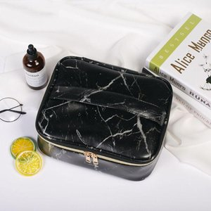 Travel Cosmetic Makeup Bag Toiletry Case Marble Pattern Pouch Wash Organizer Storage