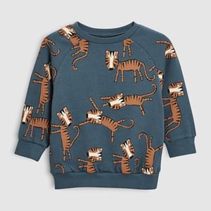 Little maven autumn boys brand clothes children Hoodies & Sweatshirts boy cotton animal print kids sweatshirts fleece C0173 201127