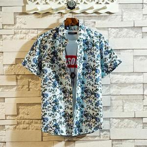 feitong Mens Summer Shirts Casual Blouse Fashion Short Sleeve Beach Tops Loose Hawaiian Shirt High Quality Males Social Shirts