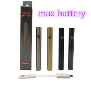 510 Thread Battery Amigo Max Battery Vape Pen Cartridges Preheat Batteries 380mah Voltage Bottom with USB Charge E Cigarette Vaporizer Pen