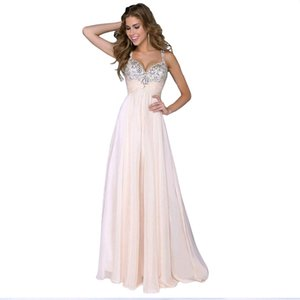 Beautiful beaded formal evening dress with suspenders, sexy V-neck, fashionable pleated A-line long skirt, suitable for young ladies' dresse