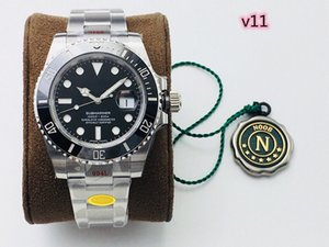 N factory makes V10V11 new men's watch 2836 movement and 3135 movement optional 904L fine steel case black green ceramic dial sapphire glas