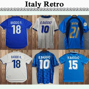 1994 R. Baggio Maldini Ancelotti Retro Soccer Jerseys 1982 Paolo Rossi 2006 Cannavaro Maglia Totti Pirlo Zuhause weg Fußball Hemd Uniform