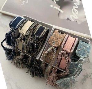 Kids Luxury Designer Jewelry Women Men Bracelets Fashion Braided Tassel Embroidered Lovers Bracelet A5621