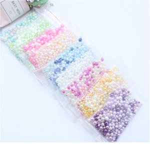 Hot Fashion 500pcs lot Round No Holes Imitation Pearl Beads Mix Size Random Mix Colors Pearls Beads Diy Crafts De jllEvU