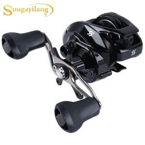 Sougayilang New Arrived Low Profile Baitcasting Fishing Reel 12+1BB 7.2:1 Smooth Powerful Saltwater Freshwater Fishing Wheel Z1128