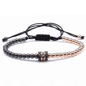 K Cool Summer Zircon Bracelet Bangle Bracelets For Women Gold Caps Micro Pave Cz Beads Twisted Macrame Bracelets Valentine Giftgood.