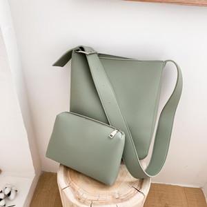 Designer-Shoulder Bag for Women PU Leather Composite Bag Fashion Solid High Capacity Crossbody Female Bags Girl's Soft Handbag