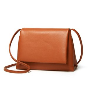 Women Shoulder Bag Soft Leather Solid Color Women Purse New Womens Handbags New Lady hand Bags Fashion Handbag SMCD-7524#