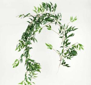 Artificial Fake Eucalyptus Garland Long Leaf Plants Greenery Fo bbyKwY yh_pack