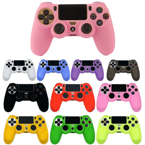 PS4 Slim Soft Silicone Case Controller Flexible Gel Rubber Skin Cover For Sony Playstation 4 Game Accessory