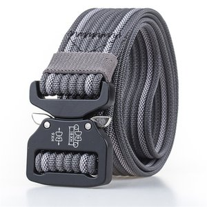 True Nylon Cobra Belt Male Adjustable Tactical Designer Belts for Jeans Metal Buckle Sport Waist Belt Training Men Belts Hiking 201117