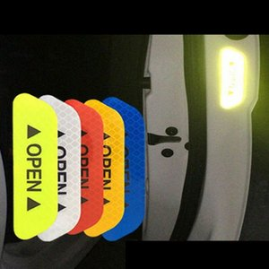 Car Door Reflective Stickers Safety Warning Reflective Tape Secure Reflector Sticker Decals 4 Pcs Per Set