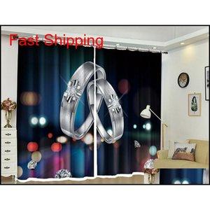Kundenspezifische Blackout-Vorhänge Billard 3D-Druckfenster Dekorieren Drapes für Wohnzimmer-Bett-Zimmer-Büro-Hotte Jllhnh BDEBAG
