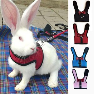 Rabbits Hamster Vest Harness With Leas Bunny Mesh Chest Strap Harnesses Ferret Guinea Pig Small Animals Pet Accessories S M L 4
