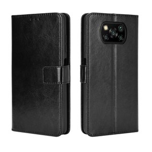 For Xiaomi Poco X3 NFC Retro Crazy Horse Texture Horizontal Flip Leather Case with Holder Card Slots Photo Frame