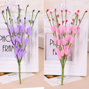 Living Room Ornaments Simulation Wire Flower Pole Branch With Leaves Artificial Flowers Decorative Flower Illustration H0419