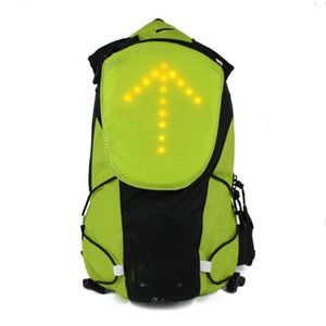 LED Turn Signal Light Reflective Vest Backpack Waist Pack Business Travel Laptop School Bag Sport Outdoor Waterproof for Safet