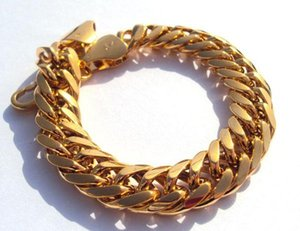Nugget New Real Solid 100% Bracelet Hypotenuse Not Money. Mens 230mm Not Gold, 18kt Gold 44g Yellow Heavy Hge jllHp bdecoat