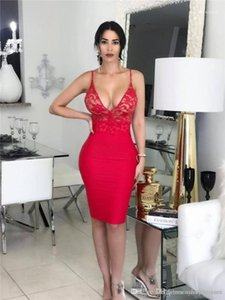 Panelled Dress Sexy Ladies Deep V Neck Dress Fashion See Through Backless Dresses Summer Female Lace
