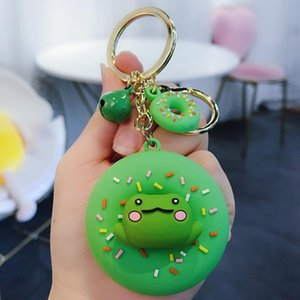 Personality trend Donut Macaron key chain lovely Corgi bag pendant car key chain wholesale