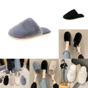 mLLEe Paris Winter Lambswool Slipper Flowers Womens Casual Fur Slippers Warm Plush Sliders Lambskin Flat Sandals Heel Wool Luxurys