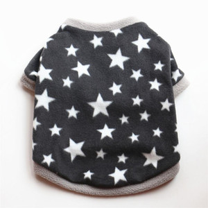 Star Fleece Fashion Black Pet Dog Clothes Cute Clothings Dogs Super Small Clothing Chihuahua Print Autumn Winter Boy Ropa Perro