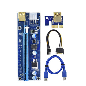 PCI-E RISER 006 / 008S / 009S Card PCI PCI E Extender USB 3.0 Cable SATA A 6PIN MOLEX Adaptador Cable Mining Riser para tarjeta de video