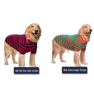 Pet Giysi Ince Bölüm Akita Labrador Altın Şişman Köpek Geniş Şerit T-Shirt İki Bacaklı Giyim Aile Sevimli Yumuşak Giysiler