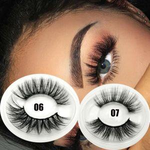 1Pair 3D Faux Mink Hair False Eyelashes Criss-cross Wispy Eye Lashes Extension Natural Long Lightweight Eyelashes Makeup Tools