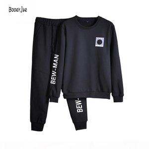 Tracksuits Men Tracksuit Set Solid Sweat Suit Men Track Suits Set Coat+Pants Hoodie Sweatshirt Moletons Masculino 2018 New