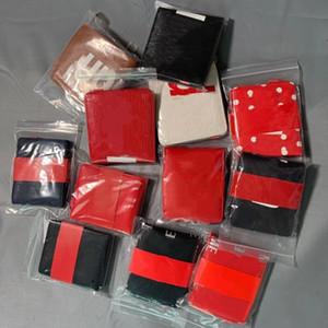 Portefeuille pour hommes Solide Portefeuilles Slim Slim Men Pu en cuir Bifold Court Credit Porte-cartes Porte-monnaie Bourse Business Mical