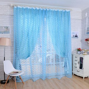 Rose Voile Blackout Curtains Living Room Window Curtains Tulle Sheer Home Decor