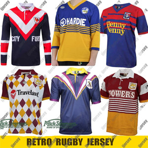 Retro Jersey Rugby Jersey Parramatta Eels Brisbane Broncos Warriors Canberra Melbourne Storm Sydney Rooster Retro Nrl League S-5XL