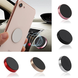 Mini Magnetic Car Phone Holder Car-styling Sticker Mobile Socket Phone Holder Universal Wall Desk Metal Magnet Car Mount Support