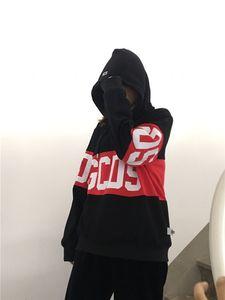 Sweat à capuche adulte marque logo populaire GCDS chapeau en plein air en hiver noir en stock OU3E